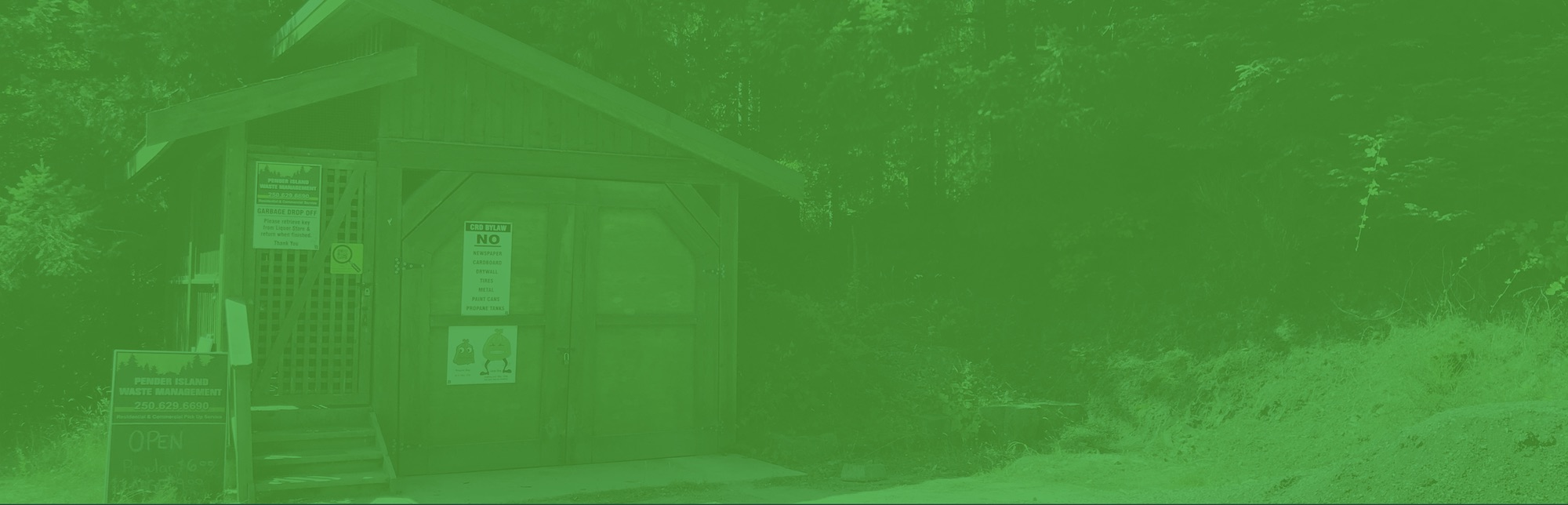 pender island disposal services collection station green filter